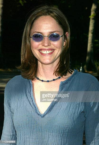 Jorja Fox from 'CSI' during CBS Television 20022003 Upfront Party at Tavern On the Green in New York City New York United States