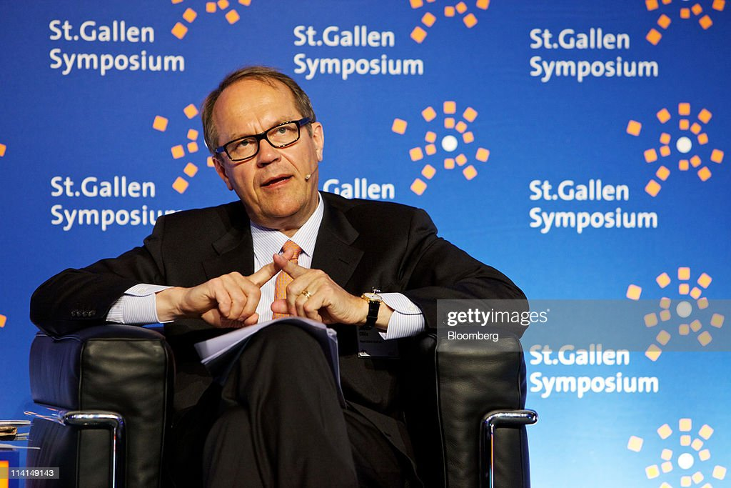 <a gi-track='captionPersonalityLinkClicked' href=/galleries/search?phrase=Jorma+Ollila&family=editorial&specificpeople=619838 ng-click='$event.stopPropagation()'>Jorma Ollila</a>, chairman of Royal Dutch Shell Plc, speaks during the St.Gallen symposium in St.Gallen, Switzerland, on Friday, May 13, 2011. BP Plc Chief Executive Officer Robert Dudley said he's ''optimistic'' about reaching an agreement on a share swap with state-owned Russian oil producer OAO Rosneft. Photographer: Gianluca Colla/Bloomberg via Getty Images