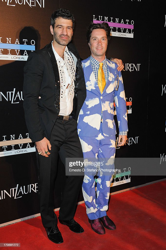 Jorn Weisbrodt and <a gi-track='captionPersonalityLinkClicked' href=/galleries/search?phrase=Rufus+Wainwright&family=editorial&specificpeople=206122 ng-click='$event.stopPropagation()'>Rufus Wainwright</a> attend 'Luminato' Toronto Opening Night at Brookfield Place on June 14, 2013 in Toronto, Canada.