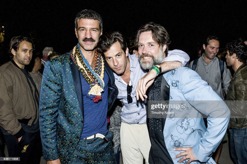 Jorn Weisbrodt, Mark Ronson and Rufus Wainwright attend post performance VIP reception Ford Theatre on August 20, 2017 in Hollywood, California.
