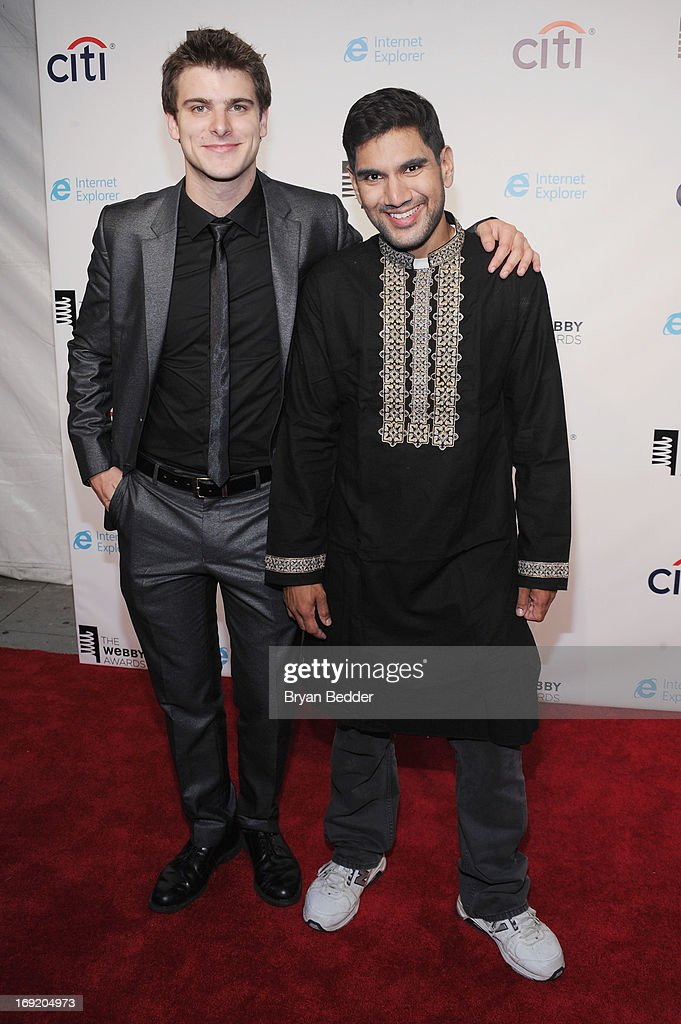 Jory Caron and Shawn Ahmed attend the 17th Annual Webby Awards at Cipriani Wall Street on May 21, 2013 in New York City.
