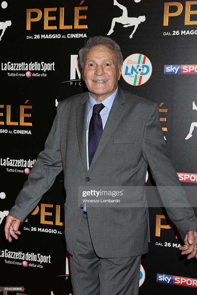 José Altafini attends the 'Pele' Red Carpet on May 26, 2016 in Milan, Italy.