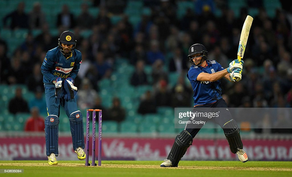 <a gi-track='captionPersonalityLinkClicked' href=/galleries/search?phrase=Jos+Buttler&family=editorial&specificpeople=5788479 ng-click='$event.stopPropagation()'>Jos Buttler</a> of England bats during the 4th ODI Royal London One Day International match between England and Sri Lanka at The Kia Oval on June 29, 2016 in London, England.
