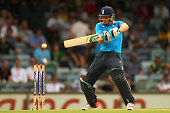 Jos Buttler of England bats during the One Day International match between England and India at the WACA on January 30 2015 in Perth Australia