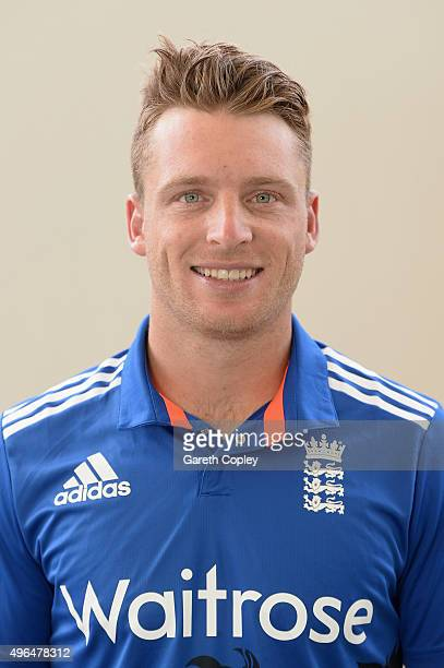 Jos Buttler of England poses for a portrait at Zayed Cricket Stadium on November 10 2015 in Abu Dhabi United Arab Emirates