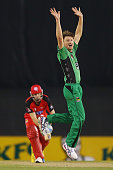 Jos Buttler of the Renegades is dismissed LBW by Jackson Bird of the Stars bowls during the Big Bash League match between the Melbourne Renegades and...