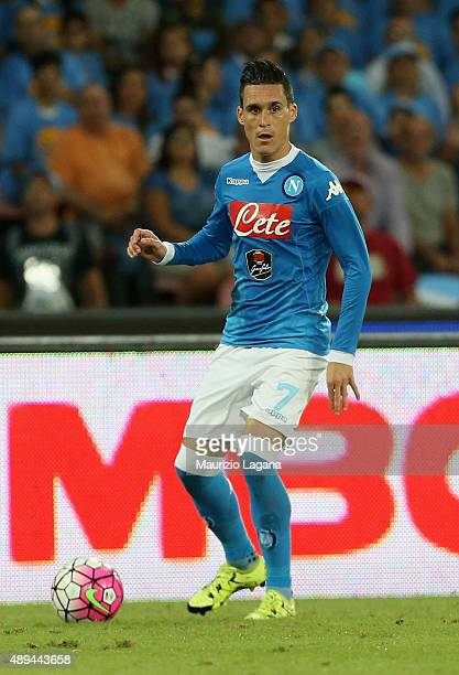 Josè Callejon of Napoli during the Serie A match between SSC Napoli and SS Lazio at Stadio San Paolo on September 20 2015 in Naples Italy