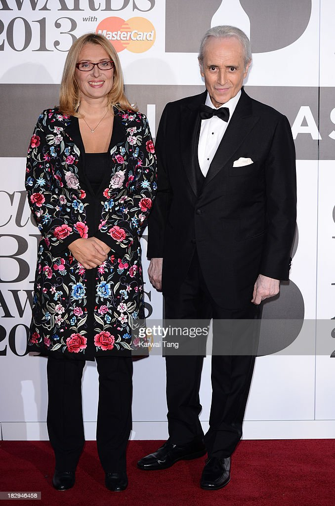Jos Carreras (Right) attends the Classic BRIT Awards 2013 at Royal Albert Hall on October 2, 2013 in London, England.