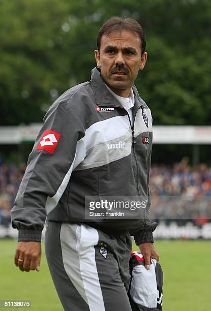 Jos Luhukay coach of Gladbach during the 2nd Bundesliga match between SC Paderborn and Borussia Moenchengladbach at the HermannLoens stadium on May...