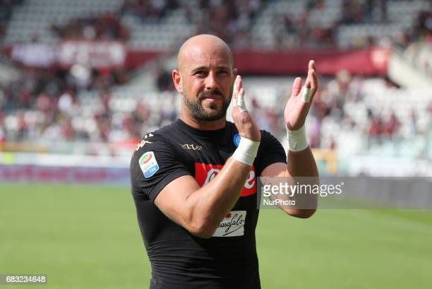 Jos Manuel Reina after the Serie A football match between Torino FC and SSC Napoli at Olympic stadium Grande Torino on may 14 2017 in Turin Italy...