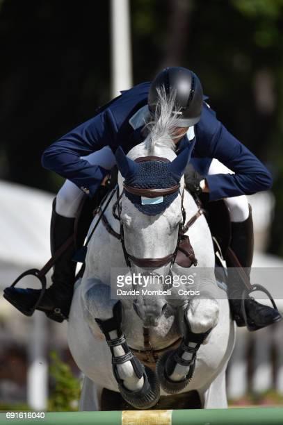 José María Larocca of Argentina riding CORNET DU LYS during the Piazza di Siena Bank Intesa Sanpaolo in the Villa Borghese on May 27 2017 in Rome...