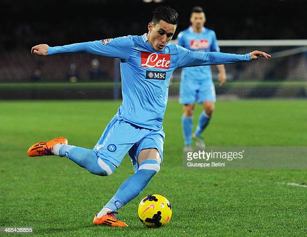 Josè Maria Calleion of Napoli in action during the Serie A match between SSC Napoli and AC Chievo Verona at Stadio San Paolo on January 25 2014 in...