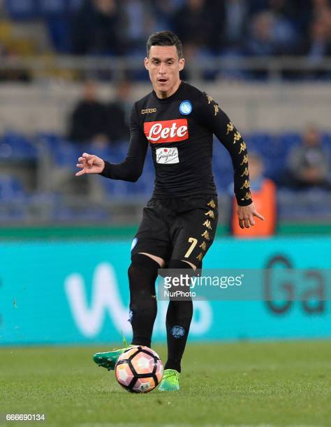 Josè Maria Callejon during the Italian Serie A football match between SS Lazio and AC Napoli at the Olympic Stadium in Rome on april 09 2017