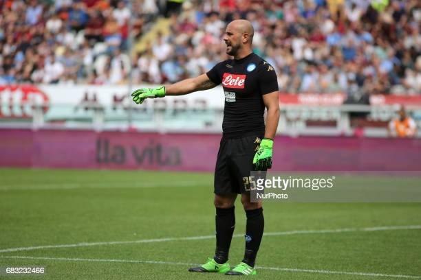 Jos Maunel Reina during the Serie A football match between Torino FC and SSC Napoli at Olympic stadium Grande Torino on may 14 2017 in Turin Italy...