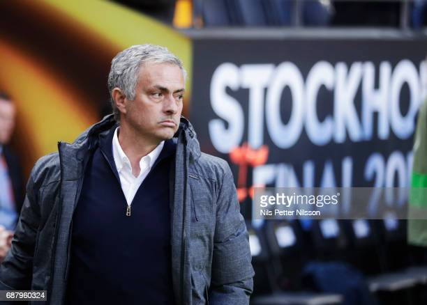 José Mourinho head coach of Manchester United during the UEFA Europa League Final between Ajax and Manchester United at Friends Arena on May 24 2017...