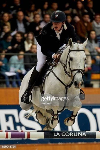 Jos Verlooy attends during CSI Casas Novas Horse Jumping Competition on December 10 2017 in A Coruna Spain