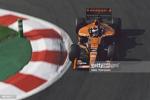Jos Verstappen of the Netherlands drives the Arrows F1 Team Arrows A21 Supertec V10 during the RhonePoulenc French Grand Prix on 2 July 2000 at the...