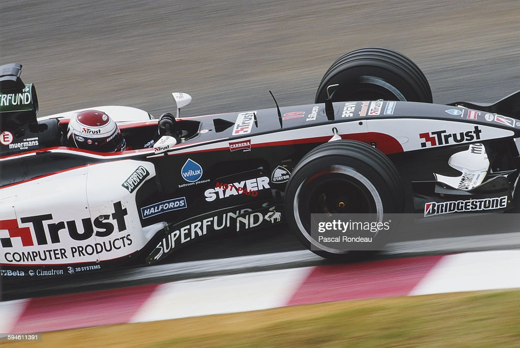 Jos Verstappen of the Netherlands driving the European Minardi Cosworth Minardi PS03 Cosworth V10 during the Japanese Grand Prix on 12 October 2003...