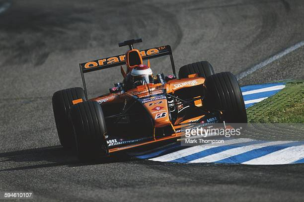 Jos Verstappen of the Netherlands driving the Orange Arrows Asiatech Arrows A22 Asiatech V10 during the German Grand Prix on 29 July 2001 at the...