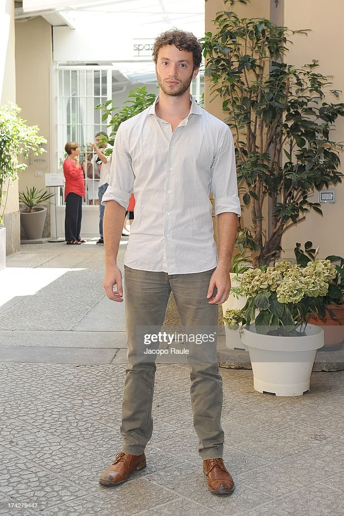 Josafat Vagni attends 'Vent'Anni Prima' Press Conference on July 23, 2013 in Milan, Italy. Vanity Fair and Rai Fiction present today the first mag series.