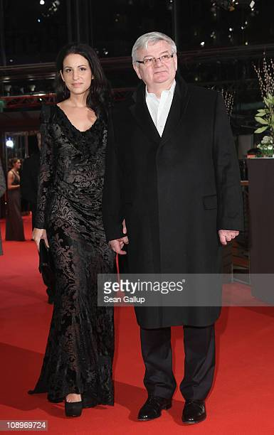 Joschka Fischer and wife Minu BaratiFischer attend the 'True Grit' Premiere during the opening day of the 61st Berlin International Film Festival at...