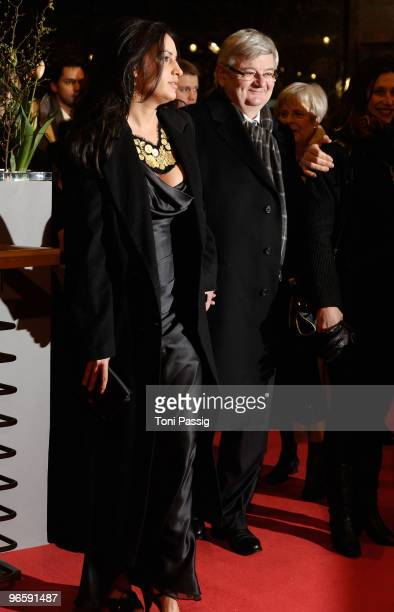 Joschka Fischer and wife Minu BaratiFischer attend the 'Tuan Yuan' Premiere during day one of the 60th Berlin International Film Festival at the...
