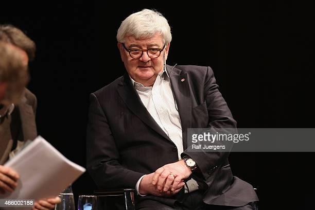 Joschka Fischer speaks about Europe during the lit Cologne at `WDR Funkhaus`on March 12 2015 in Cologne Germany