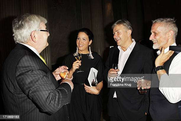 Joschka Fischer with wife Minu BaratiFischer and Klaus Wowereit With Joern Kubicki at the notion of 'Eugene Onegin' at the 'Opera for All' Unter Den...