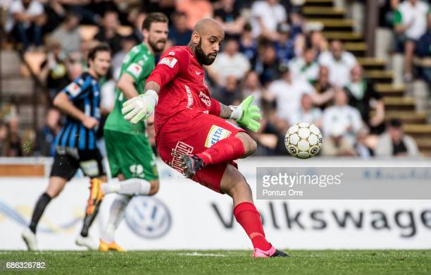 Joschua Wicks goalkeeper of IK Sirius FK during the Allsvenskan match between IK Sirius FK and Hammarby IF at Studenternas IP on May 21 2017 in...