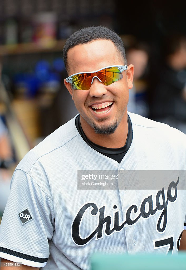 Jose Abreu #79 of the Chicago White Sox looks on from the dugout during the game against the Detroit Tigers at Comerica Park on July 31, 2014 in Detroit, Michigan. The White Sox defeated the Tigers 7-4.