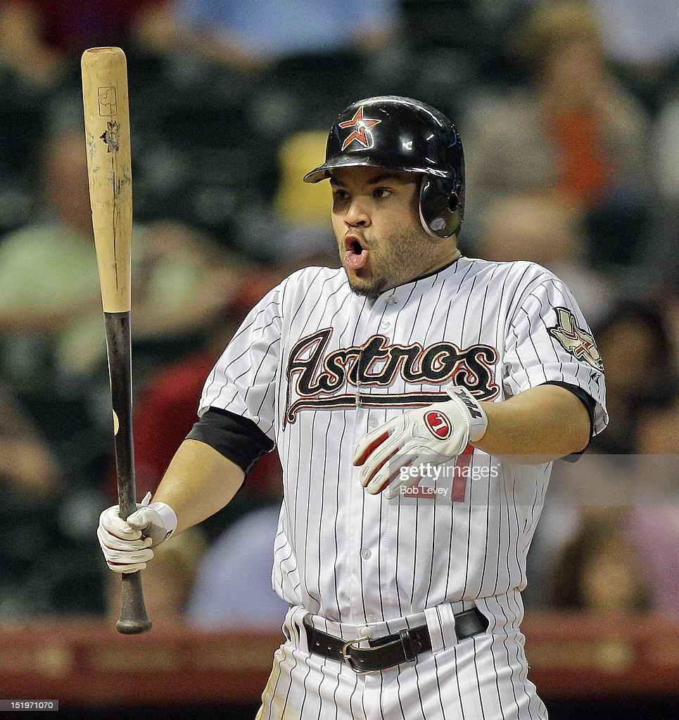 <a gi-track='captionPersonalityLinkClicked' href=/galleries/search?phrase=Jose+Altuve&family=editorial&specificpeople=7934195 ng-click='$event.stopPropagation()'>Jose Altuve</a> #27 of the Houston Astros takes in a deep breath as he steps up to bat against the Philadelphia Phillies at Minute Maid Park on September 13, 2012 in Houston, Texas.