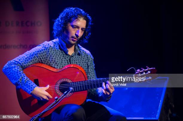 Jose Andres Cortes performs on stage at Sala Apolo on March 24 2017 in Barcelona Spain