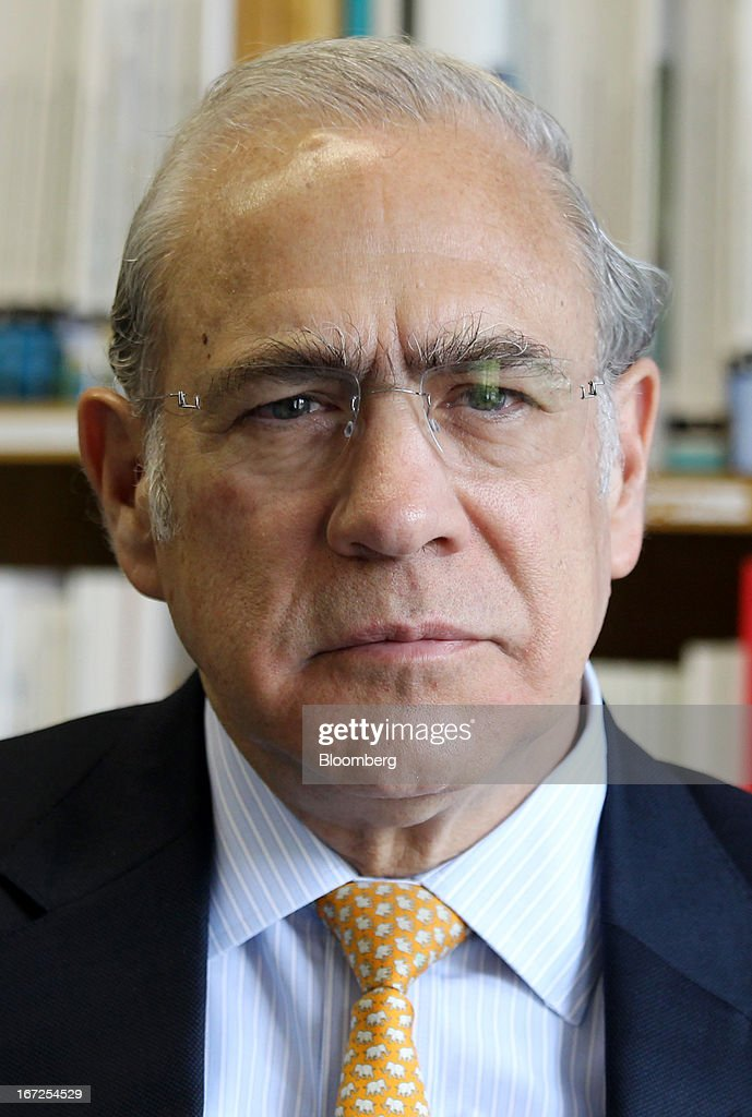 Jose Angel Gurria, secretary-general of the Organization for Economic Cooperation and Development (OECD), poses for a photograph after an interview at the OECD's office in Tokyo, Japan, on Tuesday, April 23, 2013. There is no currency war going on, Gurria said. Photographer: Junko Kimura/Bloomberg via Getty Images