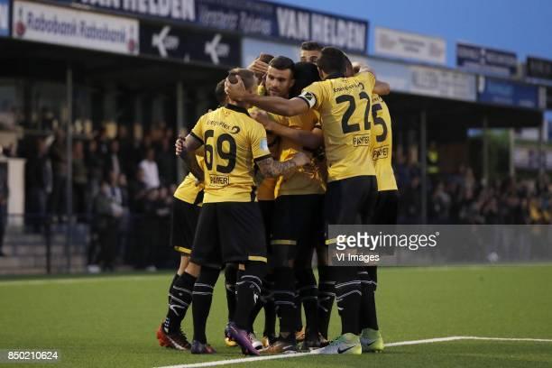 Jose Angelino of NAC Breda Rai Vloet of NAC Breda Richelor Sprangers of NAC Breda Menno Koch of NAC Breda Pablo Mari Villar of NAC Breda Karol Mets...