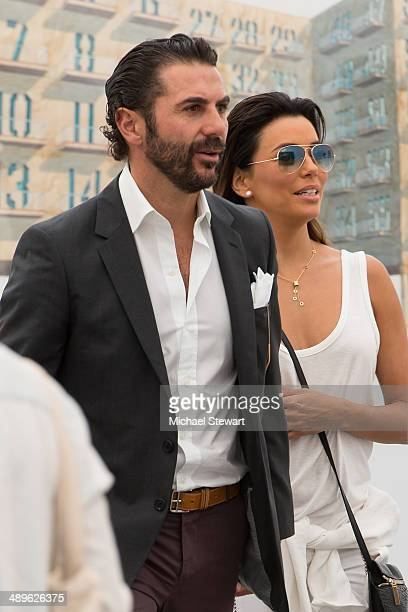 Jose Antonio Baston and actress Eva Longoria attend the 2014 Frieze New York Art Fair at Randall's Island on May 11 2014 in New York City