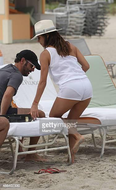 Jose Antonio Baston and Eva Longoria are seen on September 13 2014 in Miami Florida
