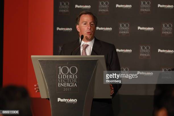 Jose Antonio Meade Mexico's finance minister speaks during The 100 Energy Leaders annual meeting in Mexico City Mexico on Monday May 22 2017 Mexico's...