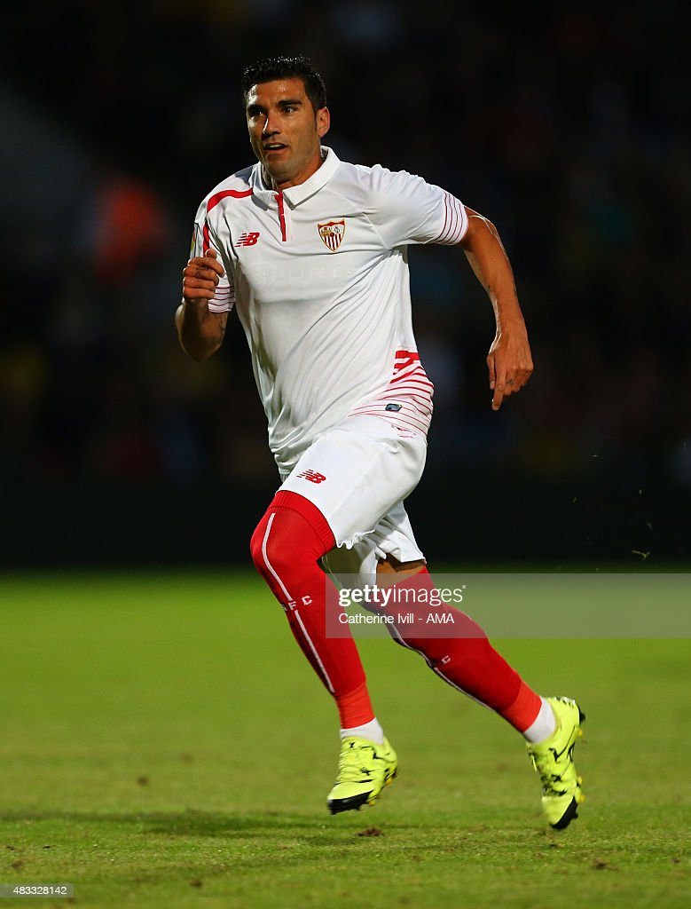Jose Antonio Reyes of Sevilla during the pre-season friendly between Watford and Seville at Vicarage Road on July 31, 2015 in Watford, England.