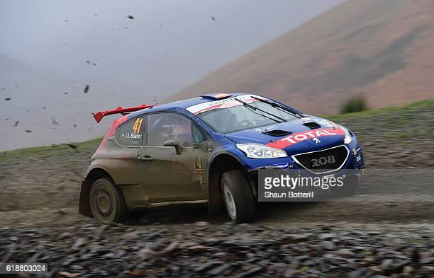 Jose Antonio Suarez Miranda and co driver Candido Carrera Estevez of Spain and Peugeot Rally Academy during the FIA World Rally Championship Great...