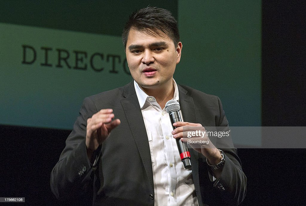 Jose Antonio Vargas, filmmaker and journalist, speaks prior to a screening of 'Documented' in San Francisco, California, U.S., on Monday, Aug. 5, 2013. 'Documented' is a film written and directed by Vargas, an undocumented immigrant. Photographer: David Paul Morris/Bloomberg via Getty Images