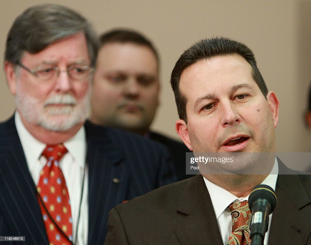 Jose Baez, lead defense counsel for <a gi-track='captionPersonalityLinkClicked' href=/galleries/search?phrase=Casey+Anthony&family=editorial&specificpeople=7188333 ng-click='$event.stopPropagation()'>Casey Anthony</a>, answers questions as co-counsel Cheney Mason (L) looks on after his client was found not guilty in her 1st-degree murder trial at the Orange County Courthouseon July 5, 2011 in Orlando, Florida. <a gi-track='captionPersonalityLinkClicked' href=/galleries/search?phrase=Casey+Anthony&family=editorial&specificpeople=7188333 ng-click='$event.stopPropagation()'>Casey Anthony</a> had been accused of murdering her two-year-old daughter Caylee in 2008 and was found not guilty of manslaughter in the first degree.