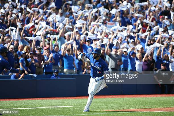 TORONTO ON SEPTEMBER 26 Jose Bautista hits a three run first inning home run as the playoff bound Toronto Blue Jays play the Tampa Bay Rays with a 53...