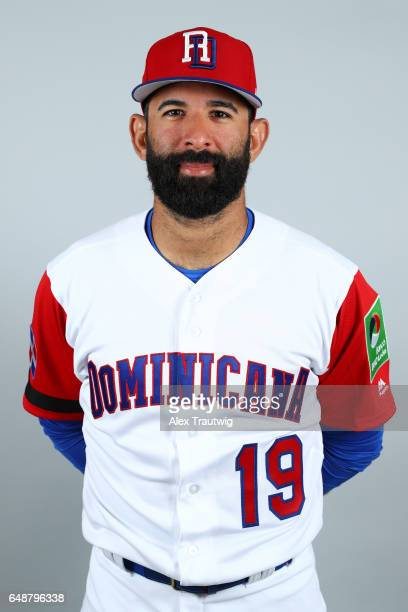 Jose Bautista of Team Dominican Republic poses for a headshot for Pool C of the 2017 World Baseball Classic on Monday March 6 2017 at Pirate City in...