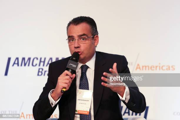 Jose Berenguer chief executive officer of JPMorgan Chase Co Brasil speaks during the Latin American Cities Conference in Sao Paulo Brazil on Friday...