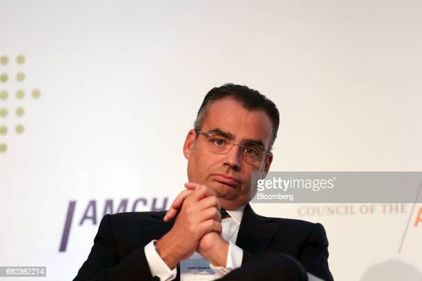Jose Berenguer chief executive officer of JPMorgan Chase Co Brasil listens during the Latin American Cities Conference in Sao Paulo Brazil on Friday...