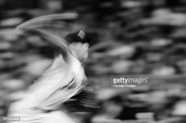 Jose Berrios of the Minnesota Twins delivers a pitch against the Chicago White Sox during the game on June 21 2017 at Target Field in Minneapolis...