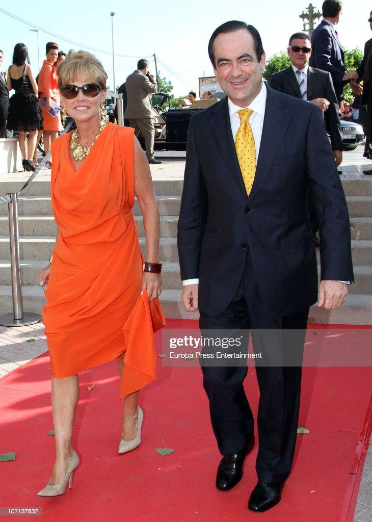 Jose Bono (R) and Ana Rodriguez attend the wedding of Manuel Colonques, son of the president of Porcelanosa company, and Cristina Babiloni on June 11, 2010 in Castellon de la Plana, Spain.