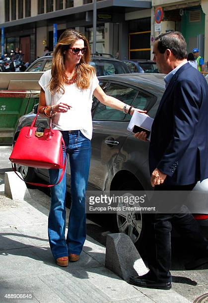 Jose Bono and her daughter Amelia Bono are seen on May 8 2014 in Madrid Spain