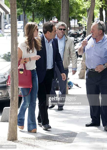 Jose Bono and her daughter Amelia Bono is seen on May 8 2014 in Madrid Spain
