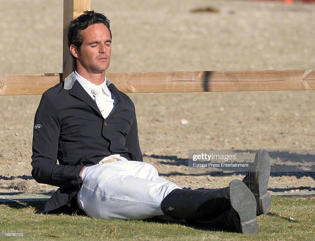 Jose Bono Rodriguez attends CSI2 Horse Race at Centro Ecuestre Oliva Nova on October 27, 2012 in Valencia, Spain.